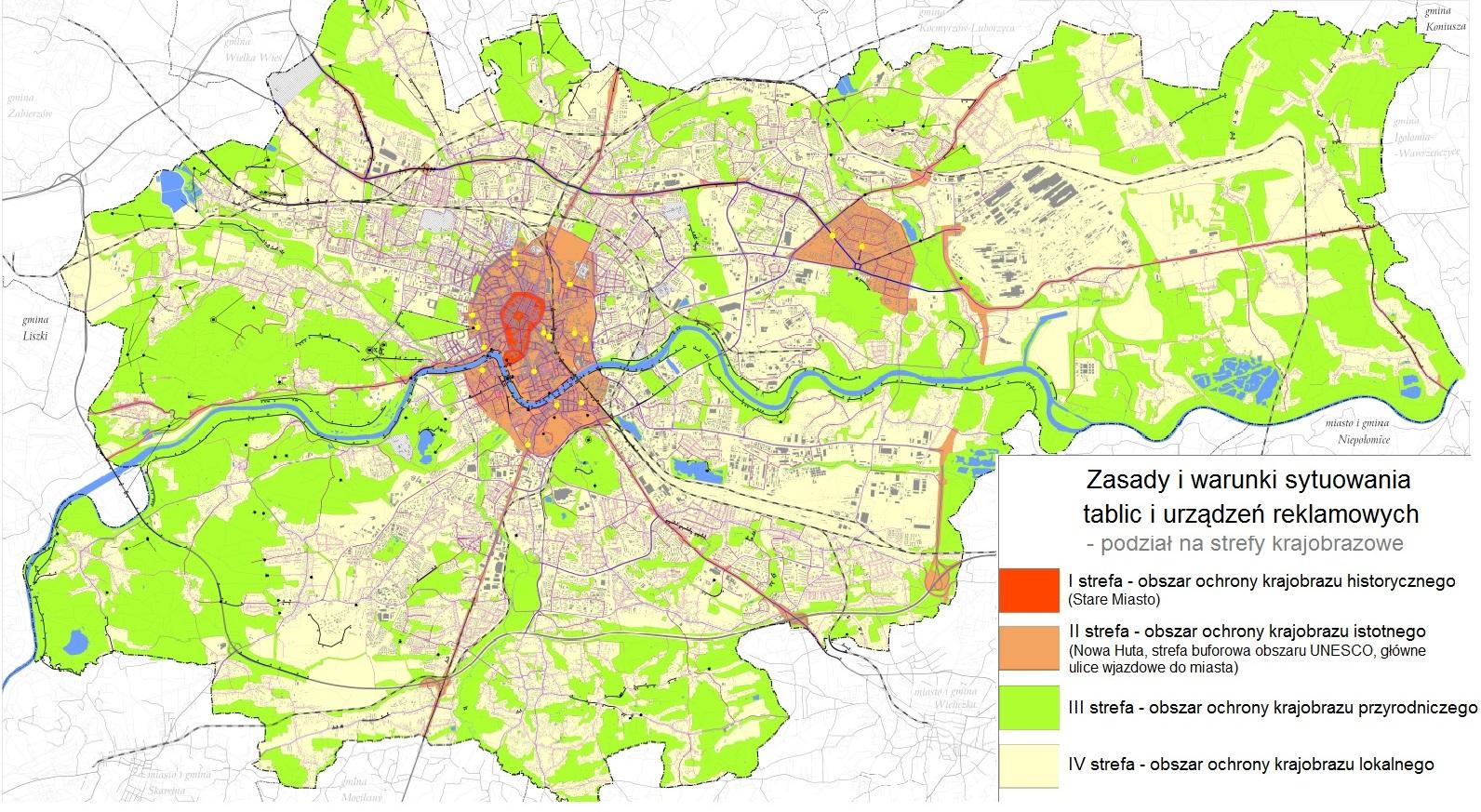 Mapa Krakow Bilbordy Info