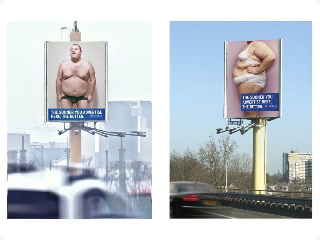 w ten skuteczny, choć i niesmaczny i niegrzeczny sposób reklamuje się właściciel nośników reklamowych Interbest
