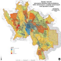 Proejkt uchwały krajobrazowej Opole podzial miasta na obszary